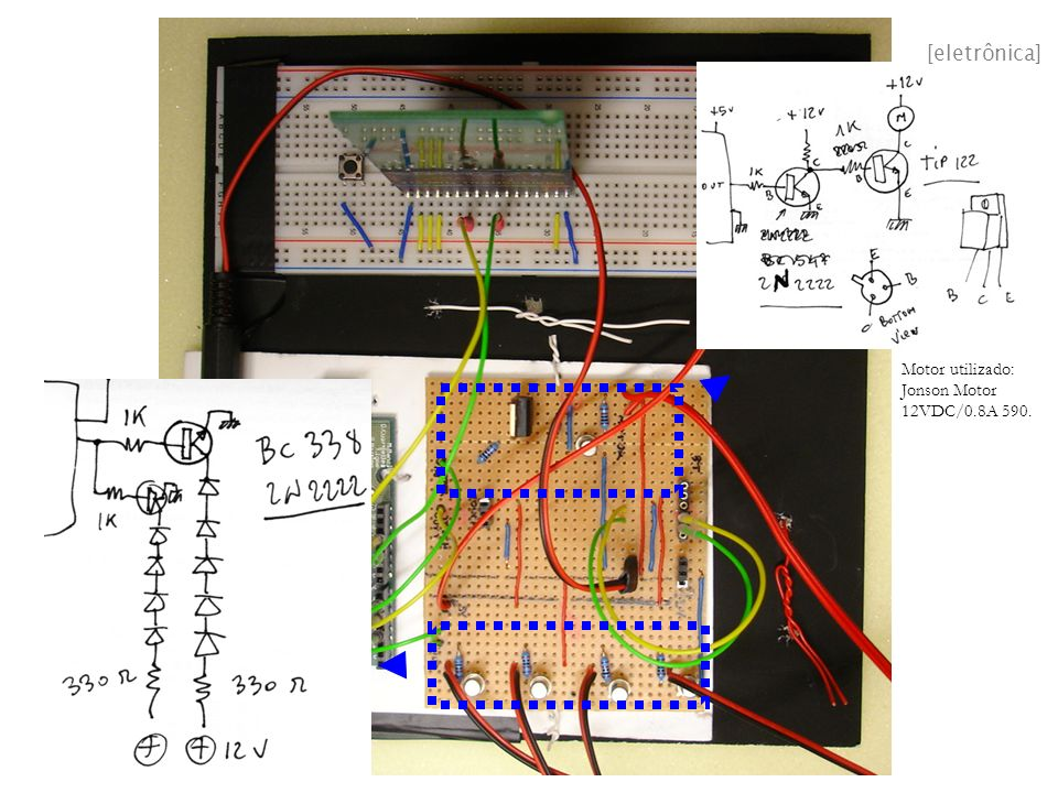 [eletrônica] Motor utilizado: Jonson Motor 12VDC/0.8A 590.